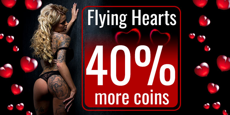 Hearts special: Collect 40% extra coins in the livechat!